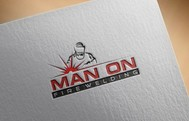 Man on fire welding Logo - Entry #70