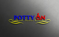 Potty On Luxury Toilet Rentals Logo - Entry #7