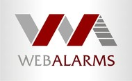 Logo for WebAlarms - Alert services on the web - Entry #161