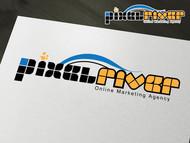 Pixel River Logo - Online Marketing Agency - Entry #222