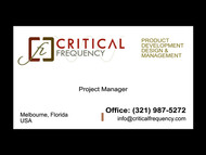 Critical Frequency Logo - Entry #65