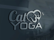 Cat Loves Yoga Logo - Entry #23